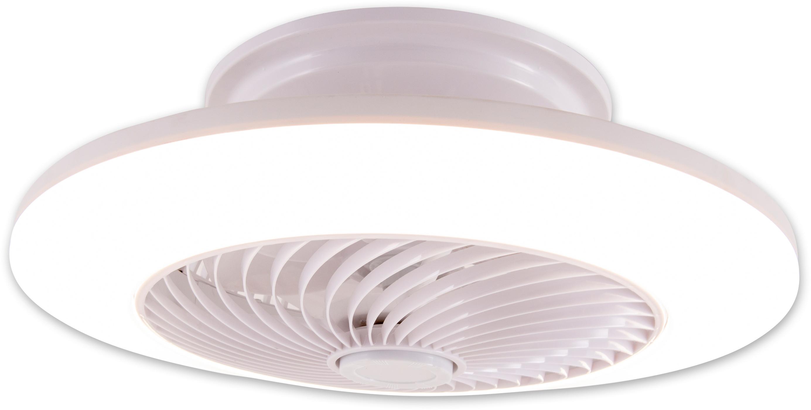näve LED Deckenleuchte Adoranto, LED-Board, Farbwechsler, Deckenventilator, inkl. Fernbedienung, Decken Ventilator mit Leuchte Lampe Durchmesser Durchmesser 55 cm