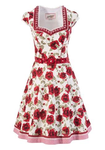 Andreas Gabalier Kollektion Trachtenkleid, (2 tlg., mit abnehmbarem Gürtel), Damen mit abnehmbarem Blüten-Bindebandgürtel kaufen
