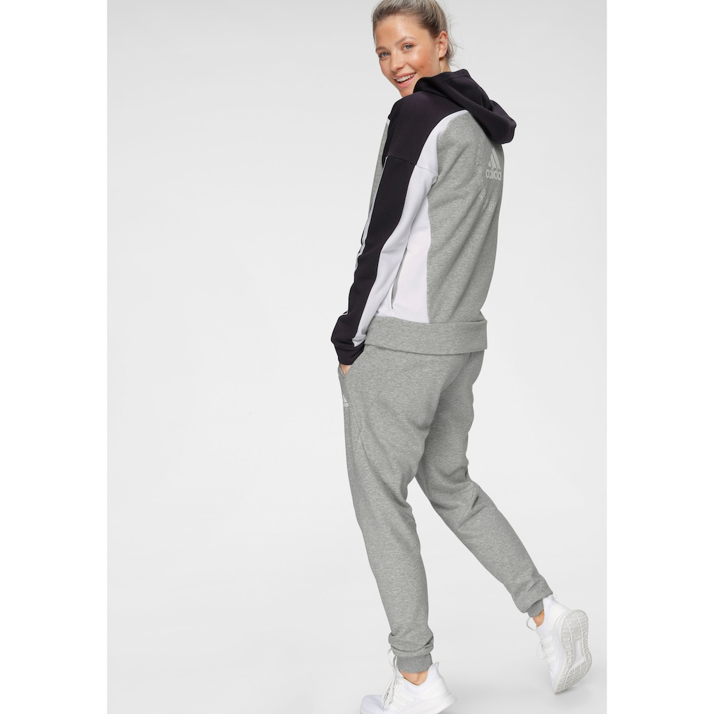 adidas Performance Trainingsanzug »HOODED TRACKSUIT«, (Set, 2 tlg.)