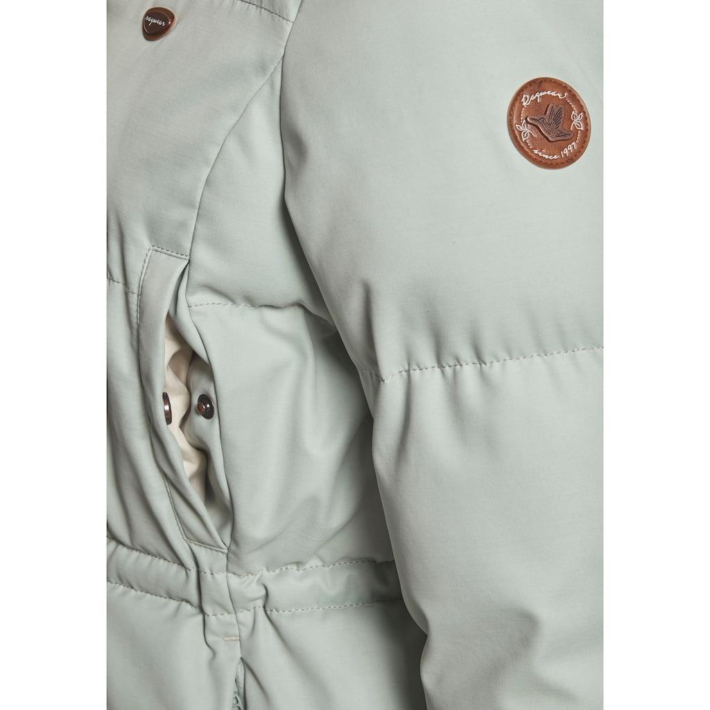 Ragwear Steppjacke »CALISTE«, mit kuschelig gefütterter Kapuze und abnehmbaren Kunstfell an der Kante