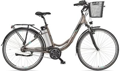 Telefunken E-Bike »Multitalent RC870«, 7 Gang, Shimano, Shimano Nexus 7-Gang-Nabe, Mittelmotor 250 W, (mit Fahrradkorb) kaufen