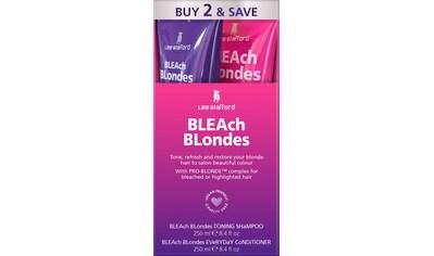 Lee Stafford Haarpflege-Set »Bleach Blonde Twin Pack Purple Reign Toning Shampoo &... kaufen