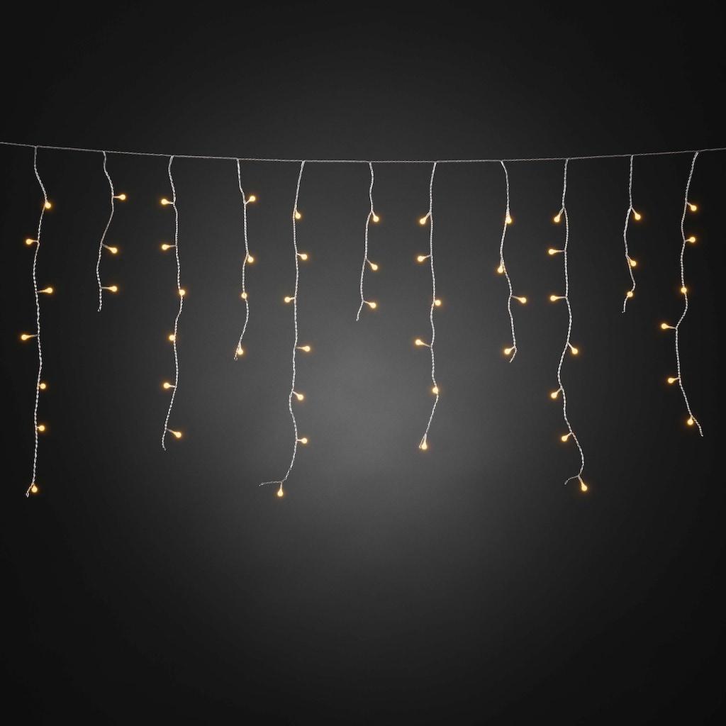 KONSTSMIDE LED Dekolicht, Warmweiß, LED Eisregen Lichtervorhang, APP gesteuert