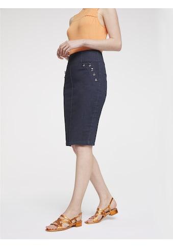 Jeansrock mit Zierknöpfen kaufen