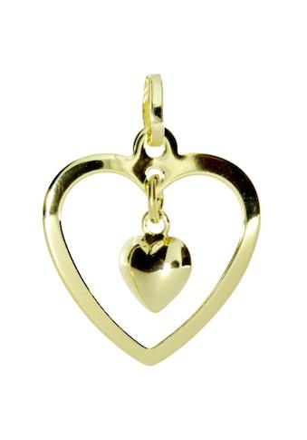 OSTSEE - SCHMUCK Kettenanhänger »Herz im Herz Gold 333/000 ,« kaufen