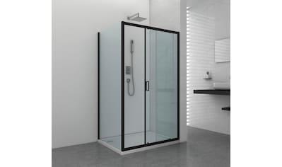 Sanotechnik Schiebetür »ELITE«, mit Alu - Profilen in schwarz matt kaufen