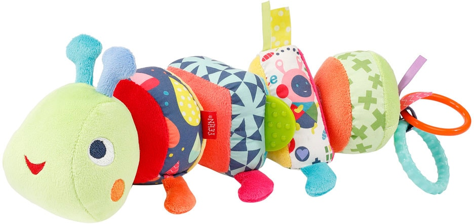 Fehn Greifspielzeug COLOR Friends Activity-Puzzle-Raupe bunt Kinder Greiflinge Baby Kleinkind