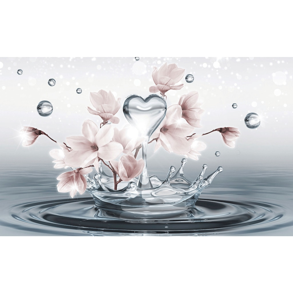 Consalnet Fototapete »Magnolie 3D im Wasser«, Motiv
