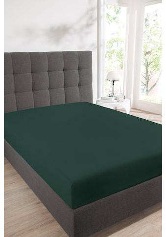 Schiesser Spannbettlaken »Jersey-Elasthan«, Strapazierfähigkeit und mit Schutz vor dem... kaufen