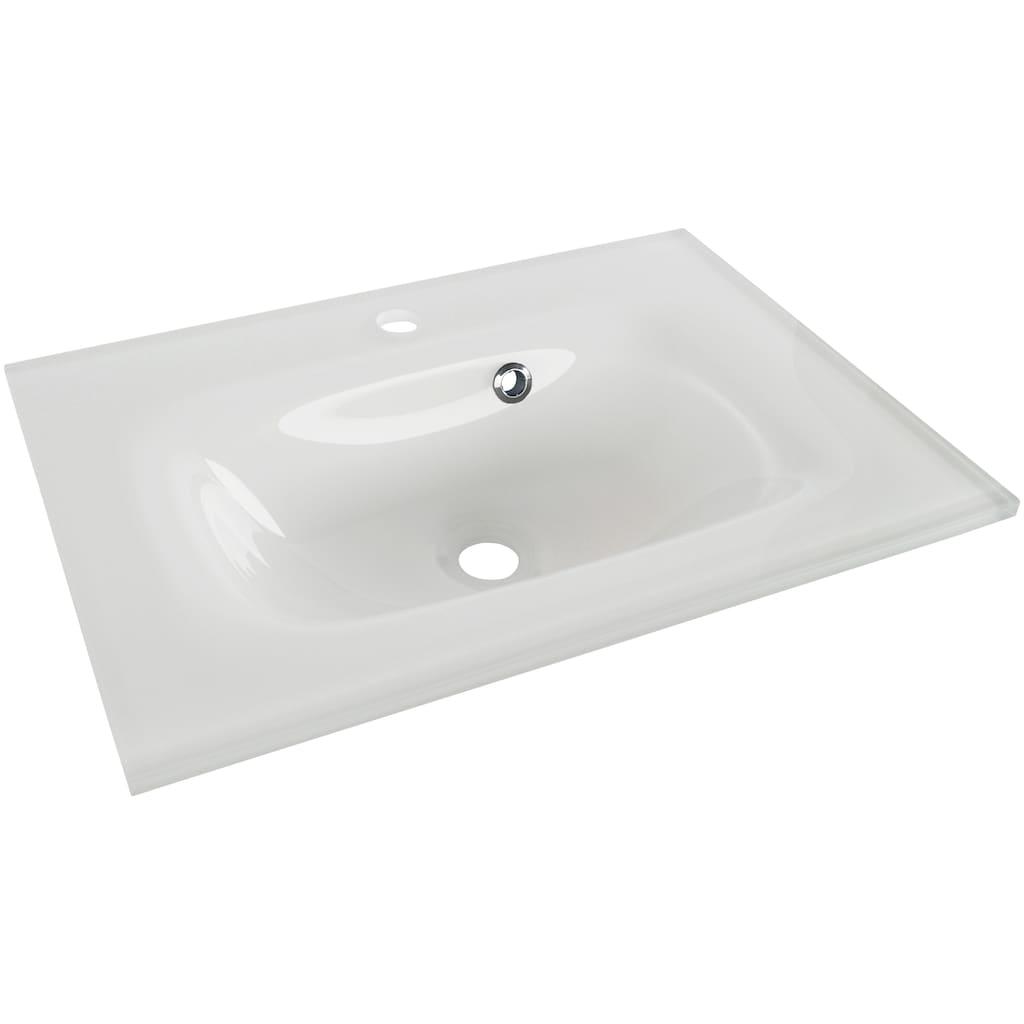 FACKELMANN Einbauwaschbecken »Yega«, Glas, mit LED-Beckenbeleuchtun, Breite 60,5 cm