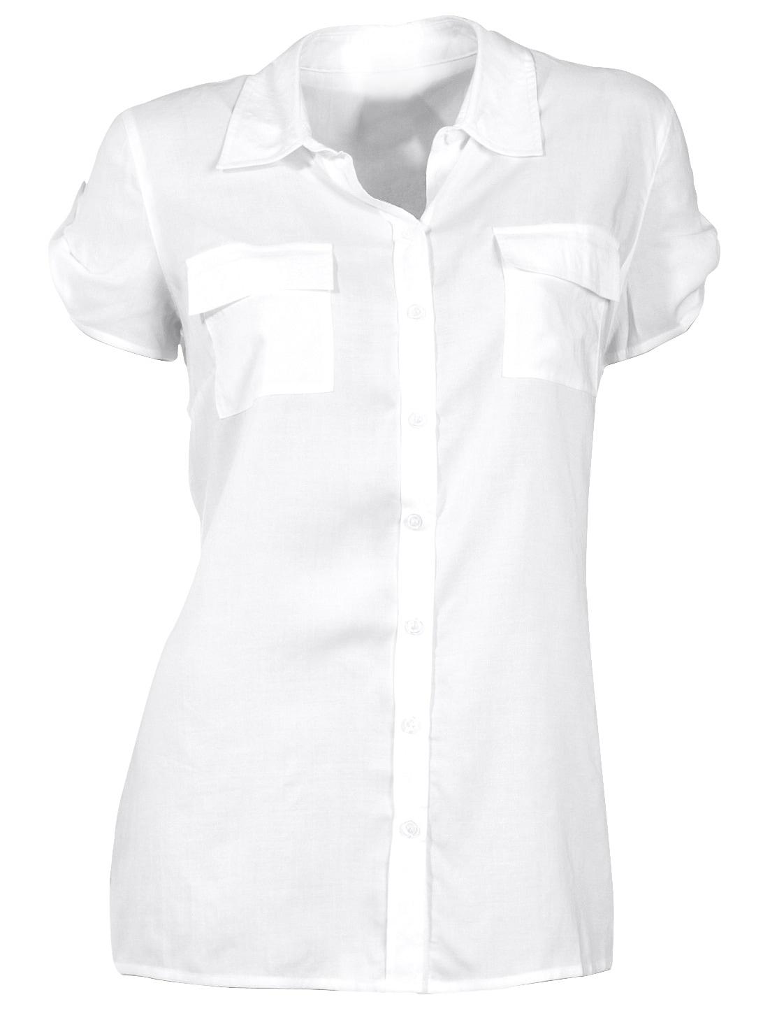 heine CASUAL Hemdbluse mit Halbarm und Riegel