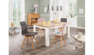 Home affaire Esstisch »Ixo«, Mit 2 dekorativ geschwungenen Oberplatten.. Hochwertige Verarbeitung, zeitloses Design. kaufen
