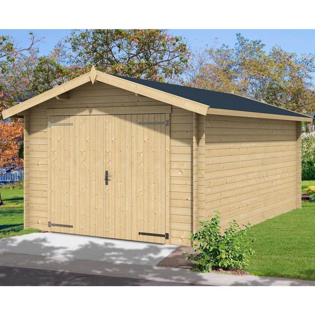 Nordic Holz Garage »Mauritius«, BxT: 382x560 cm, 202 cm Einfahrthöhe