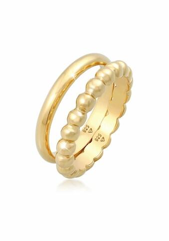 Elli Ring-Set »Bandring Basic Kugel Design (2 tlg.) 925 Silber« kaufen