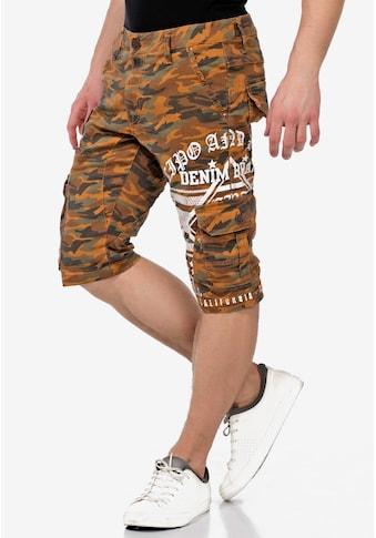 Cipo & Baxx Shorts, im lässigen Tarnmusterlook kaufen
