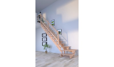 Starwood Systemtreppe »Massivholz Lindos«, Geteilte Wangenteile kaufen