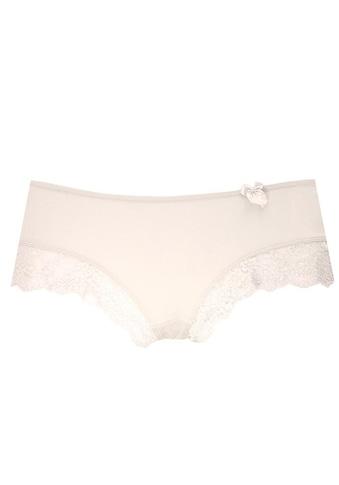 LASCANA Panty, mit Jacquardspitze am Beinausschnitt kaufen