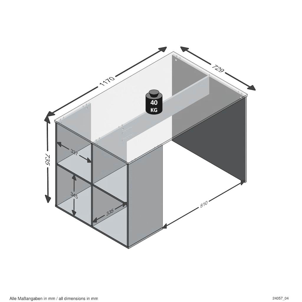 FMD Schreibtisch »Gent«, mit 4 seitlichen Fächern