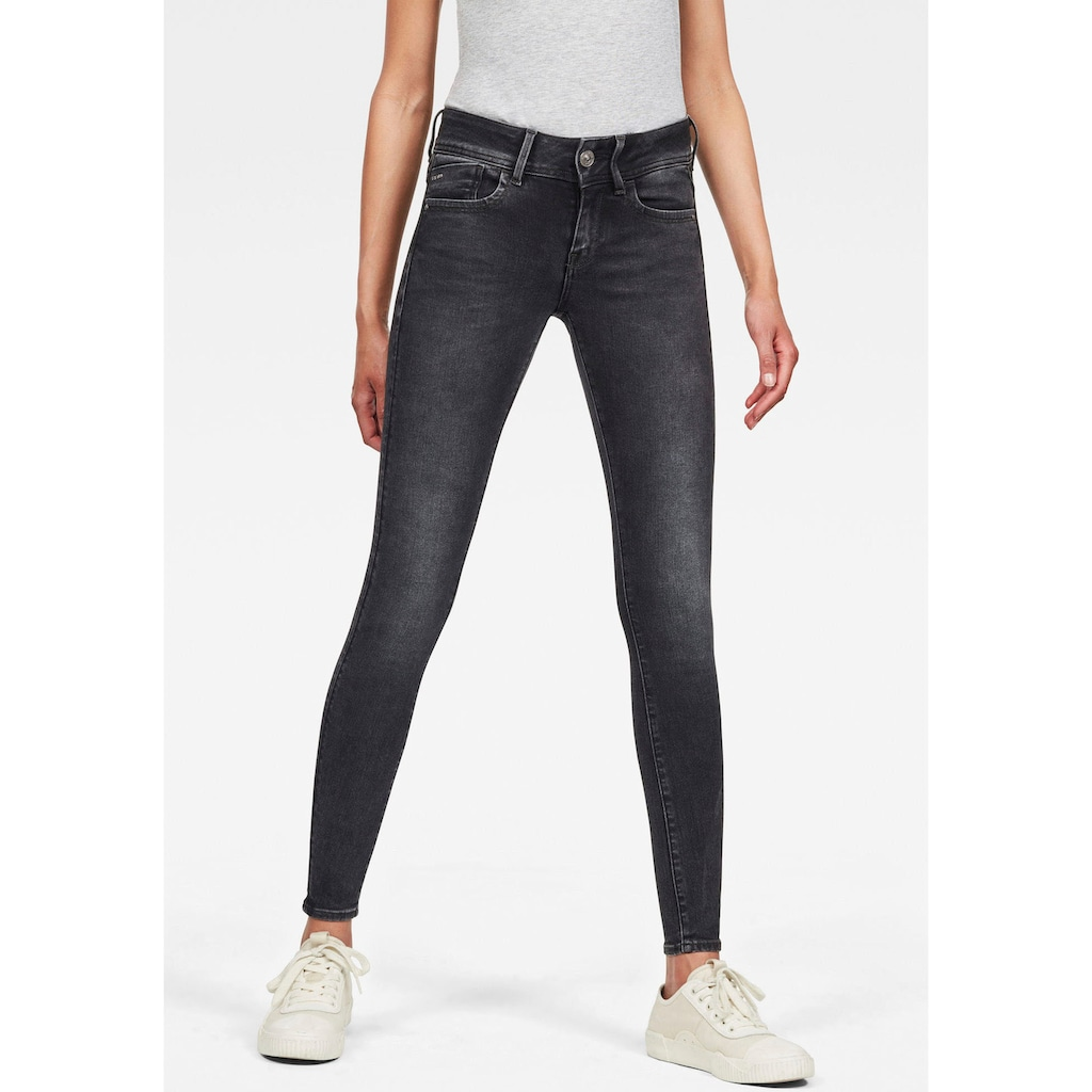 G-Star RAW Skinny-fit-Jeans »Lynn Mid Super Skinny«, in coolen Used-Waschungen