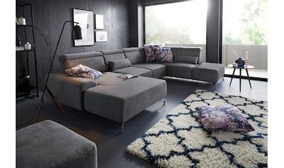 sit&more Wohnlandschaft, 12 cm Fußhöhe, inklusive Sitztiefenverstellung und... kaufen