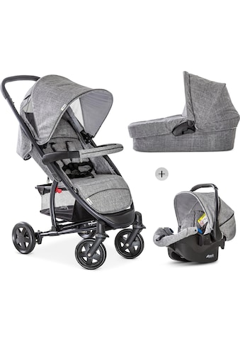 Hauck Kombi-Kinderwagen »Malibu 4 Trio Set, Melange/Grey«, mit Babyschale kaufen