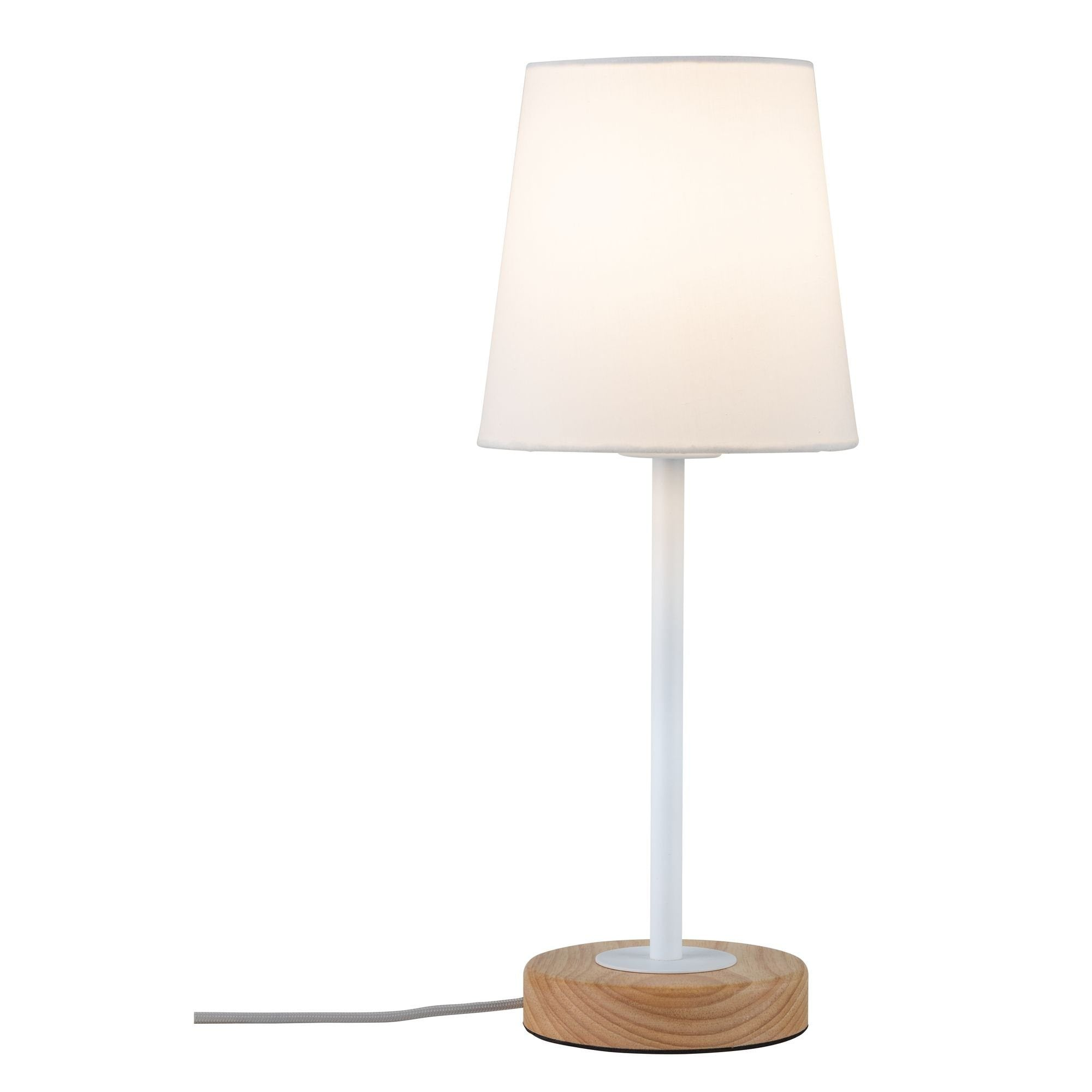 Paulmann LED Tischleuchte Neordic Stellan Weiß/Holz, E27, 1 St.