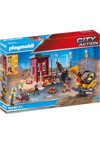"Playmobil® Konstruktions - Spielset ""Minibagger mit Bauteil (70443), City Action"" kaufen"