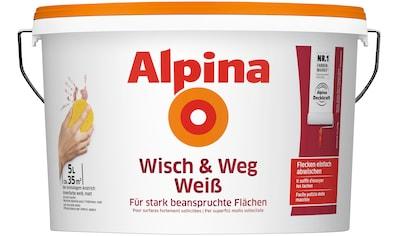 ALPINA Wand -  und Deckenfarbe »Wisch & Weg Weiß«, 5 l kaufen