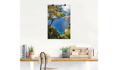 Artland Wandbild »Punta de Masullo, Insel Capri, Italien«, Meer Bilder, (1 St.), in... kaufen