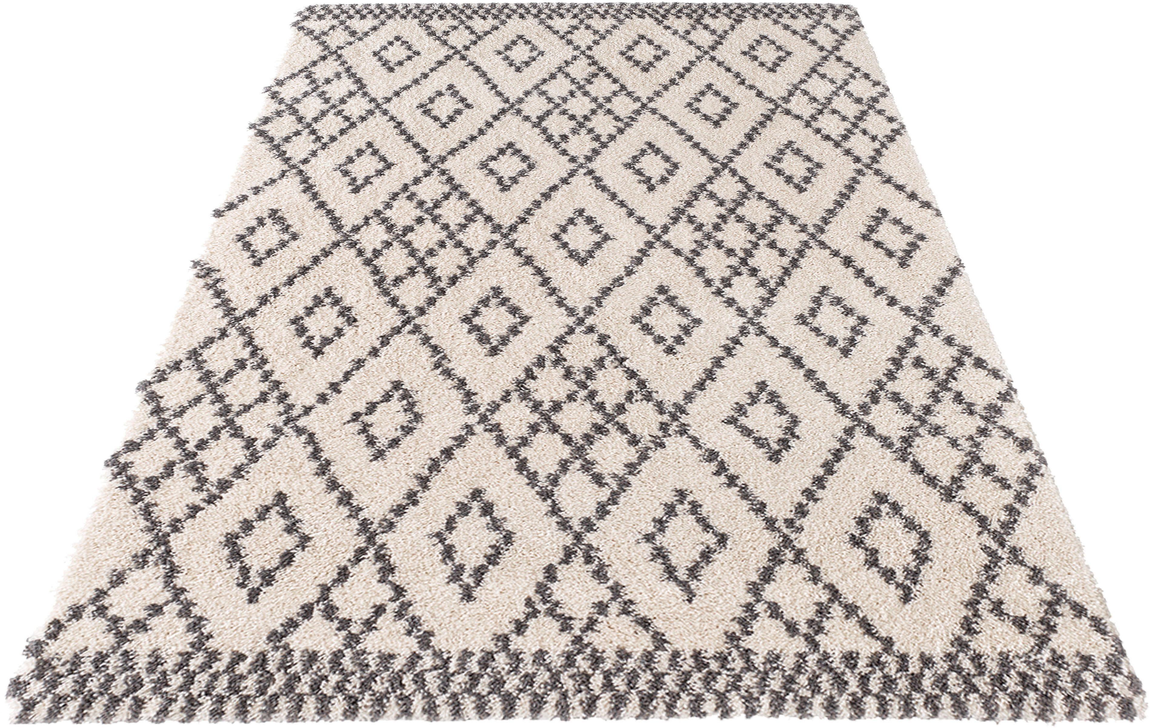 Hochflor-Teppich Chess MINT RUGS rechteckig Höhe 35 mm