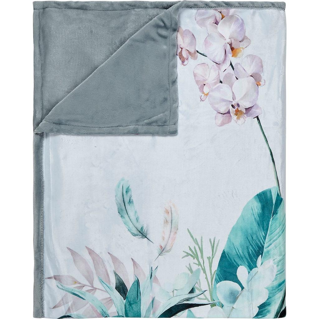 Descanso Plaid »Verdi«, mit Blüten