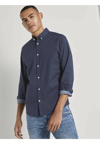 TOM TAILOR Langarmhemd »Gemustertes Stretch-Hemd« kaufen