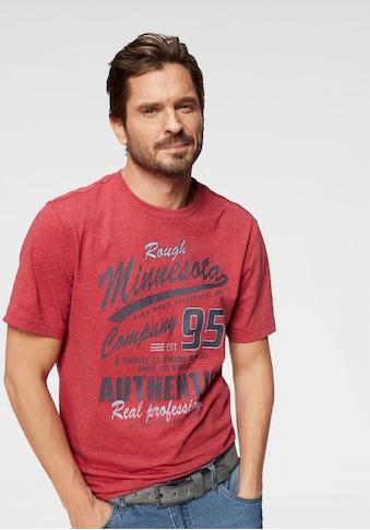 Man's World T-Shirt, mit Print in Vintage Optik kaufen