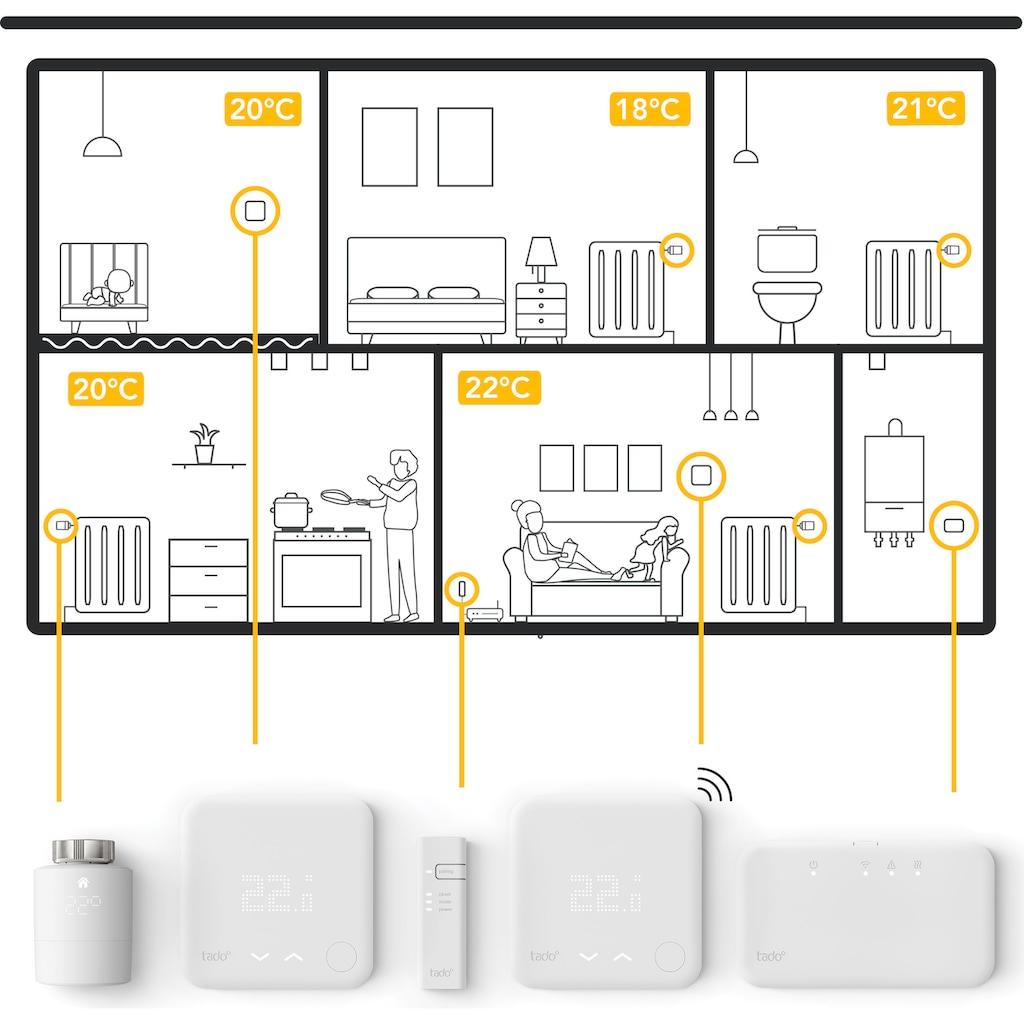 Tado Smartes Heizkörperthermostat »Smartes Heizkörper Thermostat - Duo Pack, Zusatzprodukte für Einzelraumsteuerung (Universal)«