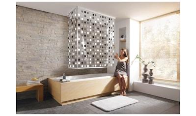 KLEINE WOLKE Eck - Duschrollo »Streifen weiß«, 134 x 240 cm kaufen