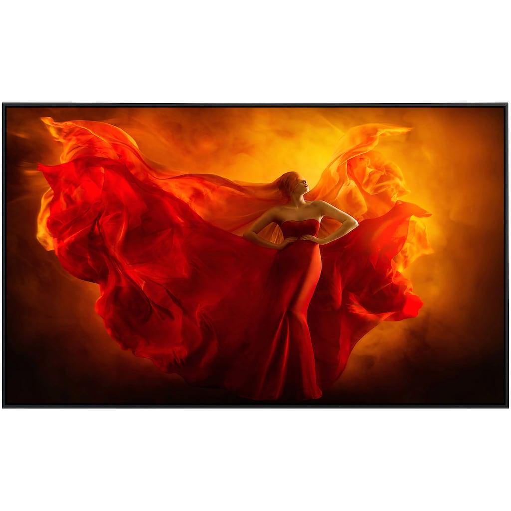 Papermoon Infrarotheizung »Frau im roten kleid«, sehr angenehme Strahlungswärme