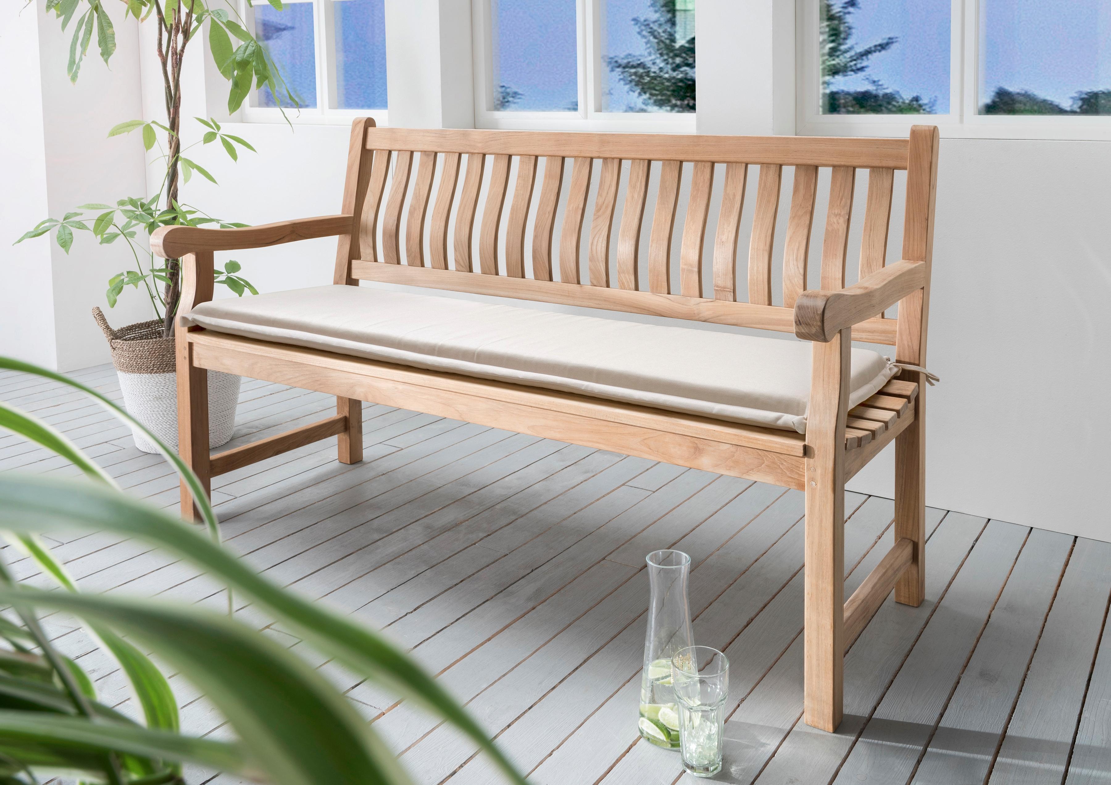 Destiny Bankauflage, 140x45 cm beige Bankauflagen Gartenmöbel-Auflagen Gartenmöbel Gartendeko Bankauflage