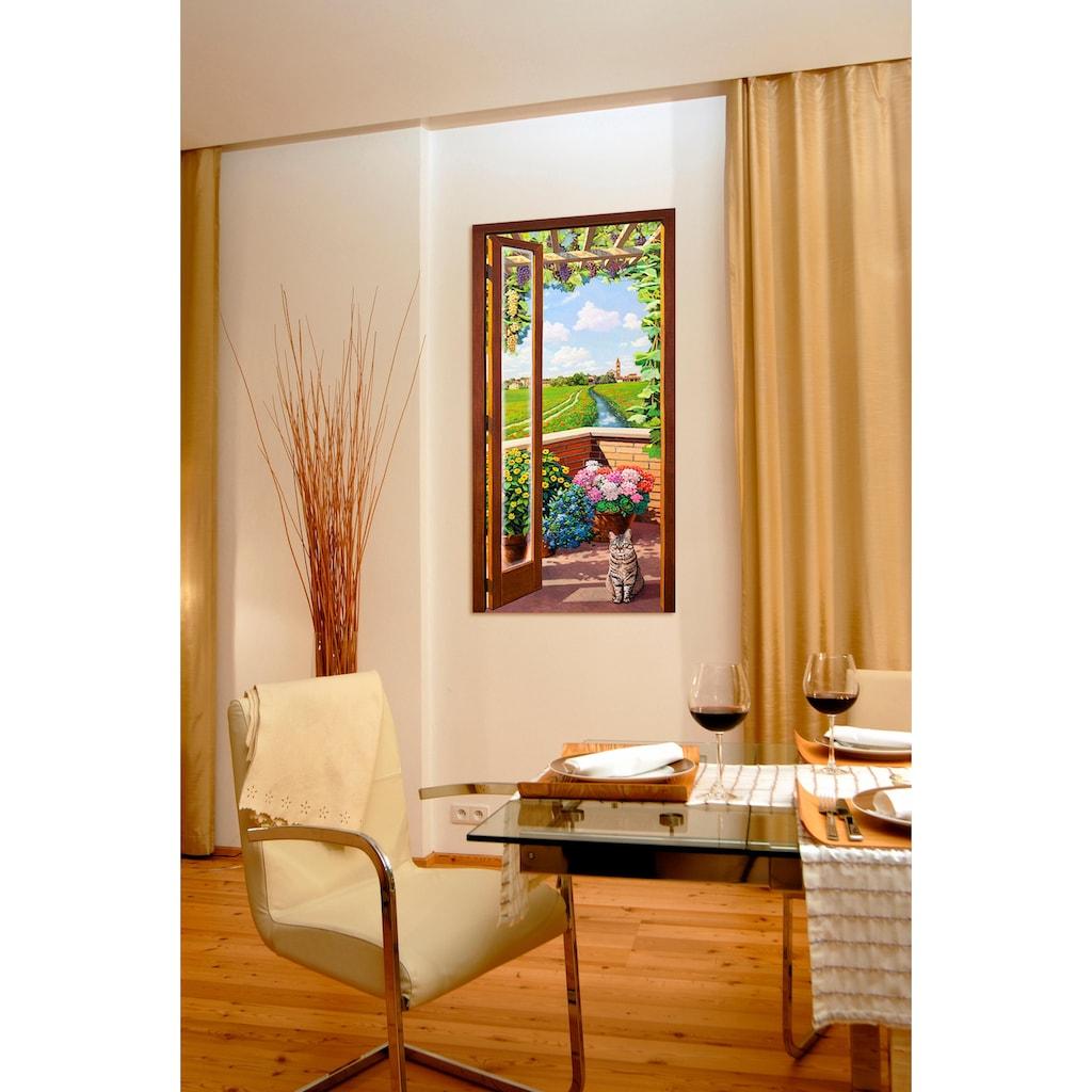 Home affaire Deco-Panel »A.DEL MISSIER / Finestra sulla campagna«, 50/100 cm