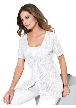 Lady 2 - in - 1 - Shirtjacke mit blickdicht unterlegter Spitze kaufen b92b940e29