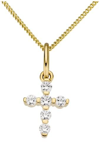 Firetti Kettenanhänger »Kreuz, glanz, massiv«, mit Zirkonia kaufen