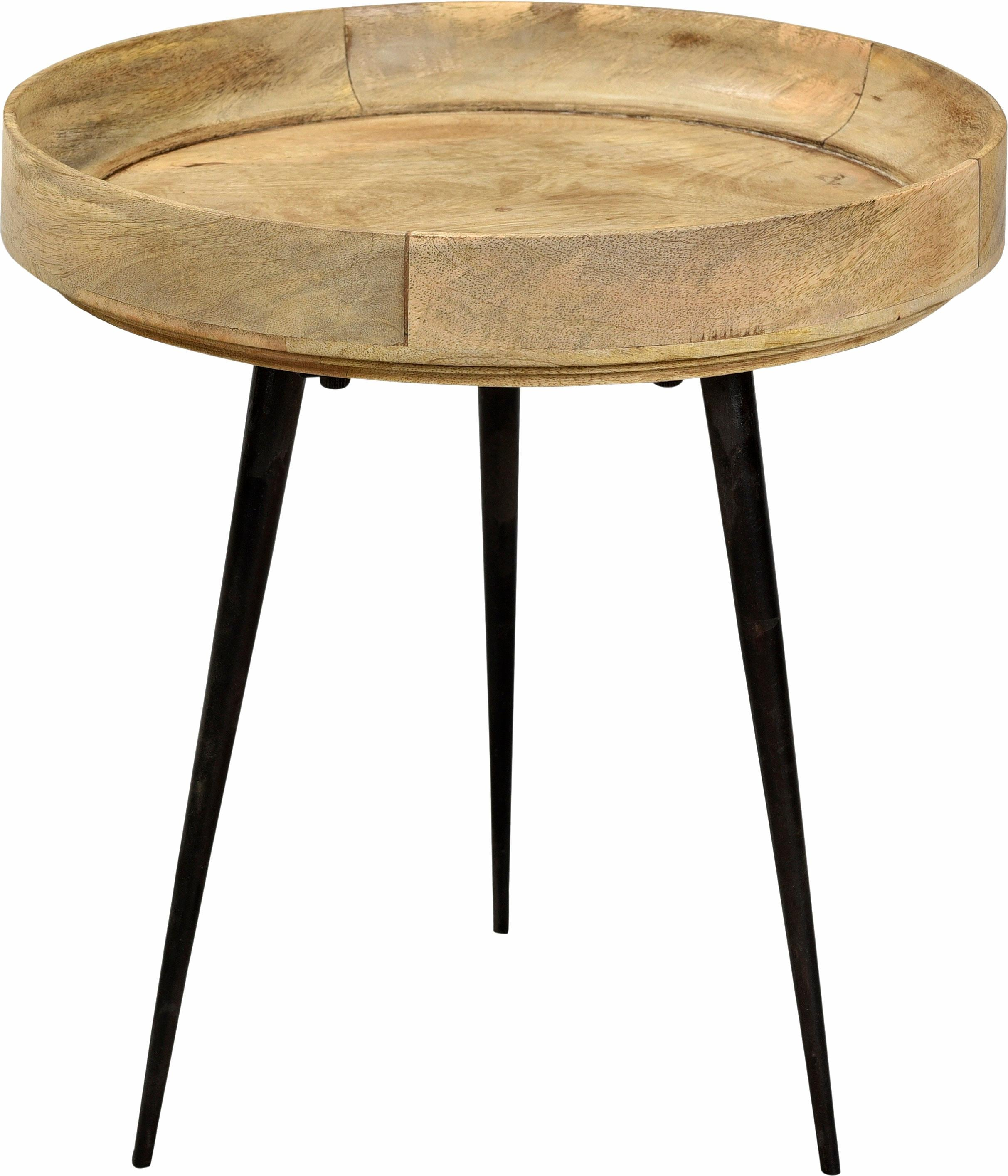 SIT Beistelltisch This&That, mit Tablett aus Mangoholz in drei Farben blau Beistelltische Tische
