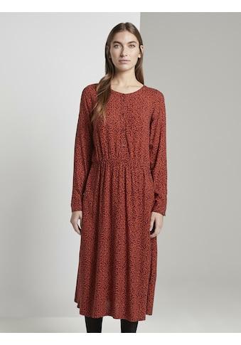 TOM TAILOR Jerseykleid »Gemustertes Midi - Kleid« kaufen