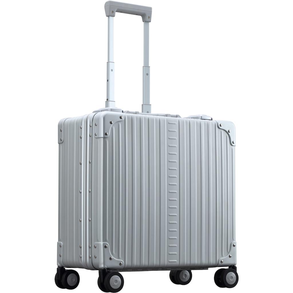 ALEON Pilotenkoffer »Aluminiumkoffer Deluxe Business Case, 44 cm«, 4 Rollen, inkl. Kabeltasche und Schutzhülle
