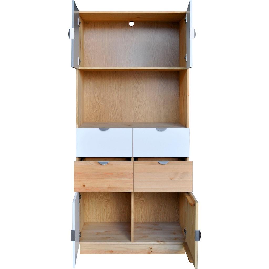 my home Regal »Undine«, 4 Türen, 4 Schubladen