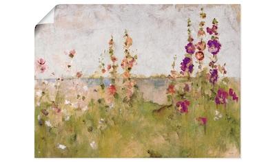 Artland Wandbild »Stockrosen am Meer« kaufen