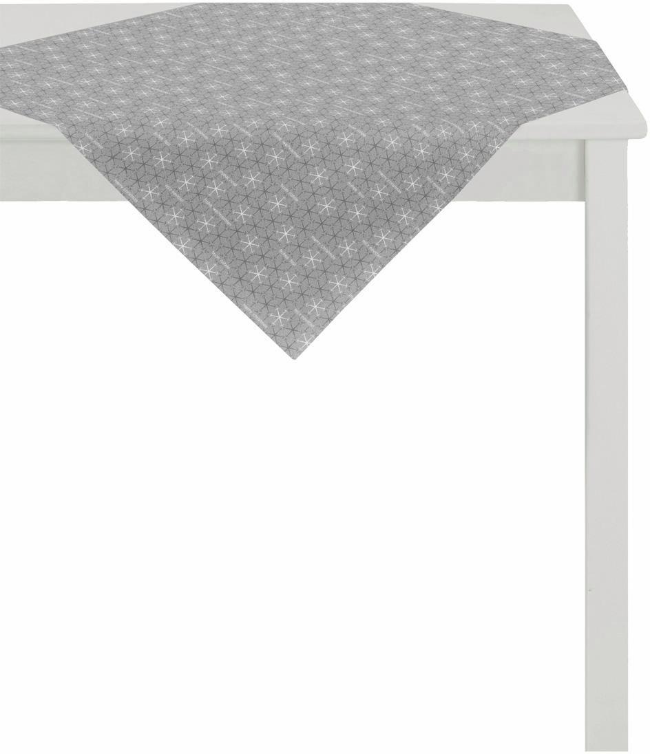 Apelt Mitteldecke 84x84 cm, »3008 Christmas Elegance« | Heimtextilien > Tischdecken und Co > Tischdecken | Grau | APELT