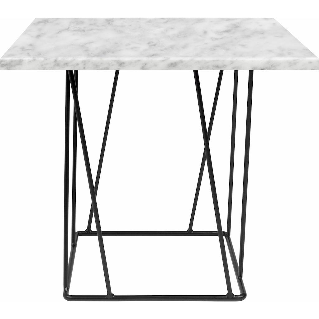 TemaHome Beistelltisch »Helix«, mit einer schönen Marmortischplatte und einem schwarzen Metallgestell
