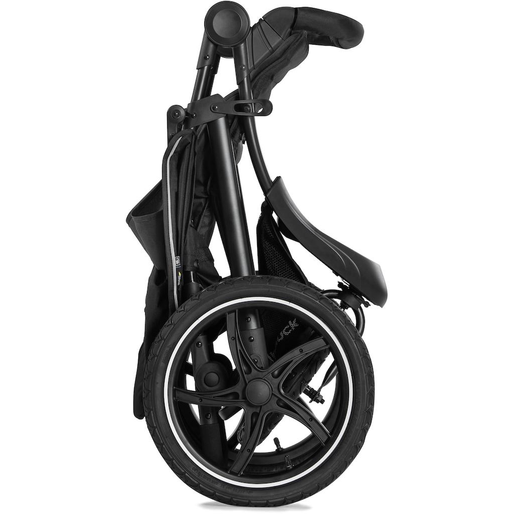 Hauck Dreirad-Kinderwagen »Runner 2, black«, 22 kg, Kinderwagen, Jogger mit schwenk- und feststellbarem Vorderrad