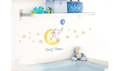 little DECO Wandtattoo »Little Deco Wandtattoo Sweet Dream Elefant Mond & Sterne« kaufen
