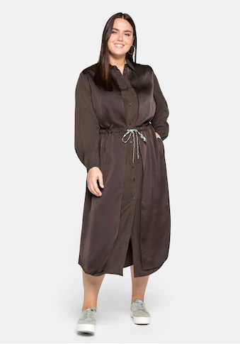 Sheego Blusenkleid, in 2-in-1-Optik, im Materialmix kaufen